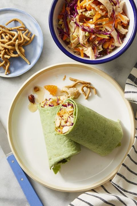 turkey sandwich ideas — chinese turkey salad wrap sandwiches