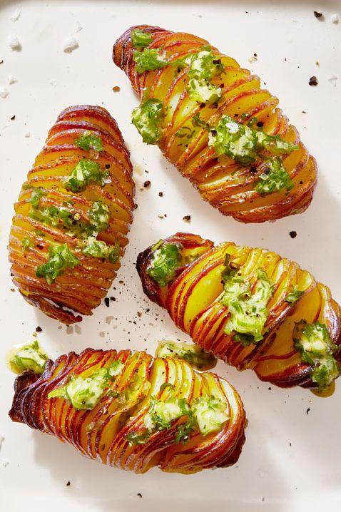 Super Bowl Snacks - Hasselback Potatoes