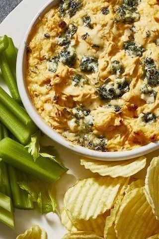 game day foods - buffalo chicken dip