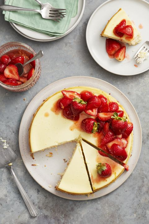 strawberry coconut crust gluten free cheesecake