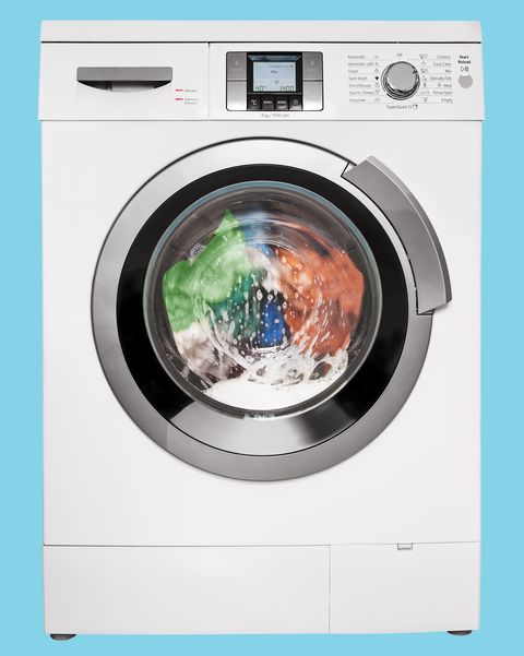 modern washing machine, isolated on white background, clipping path