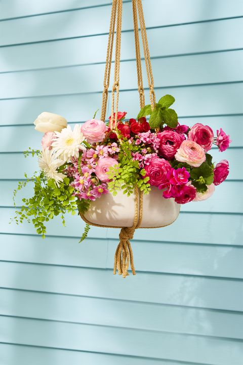 Outdoor Easter Decorations - Hanging Flower Planter
