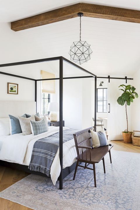 manhattan beach, ca, property, modern farmhouse style, bedroom photo by amy bartlam design by kate lester interiors