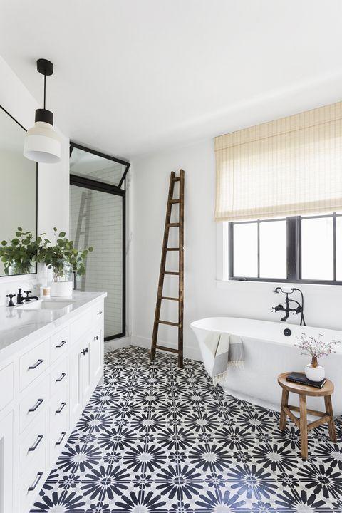 manhattan beach, ca, property, modern farmhouse style, bathroom photo by amy bartlam design by kate lester interiors