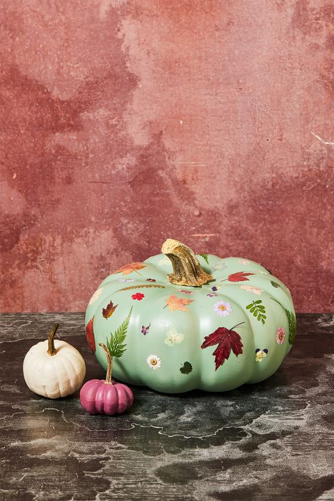 flower pumpkin decoupage