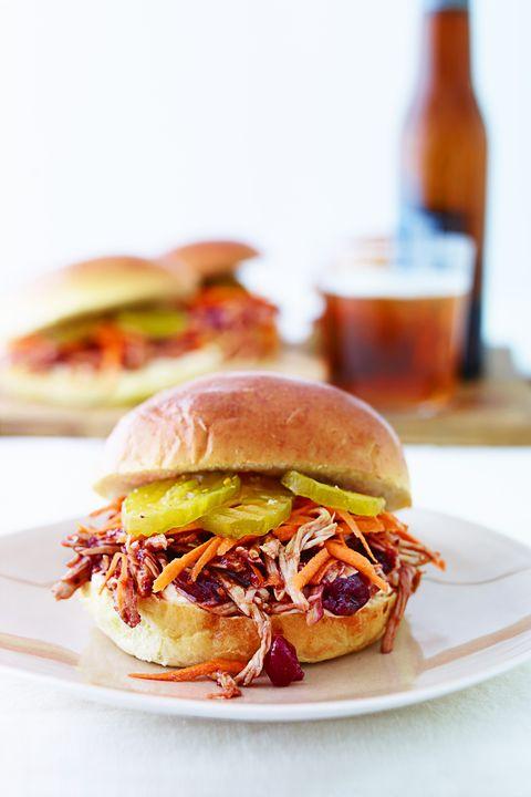 turkey sandwich ideas — pulledcranberry turkey sandwiches