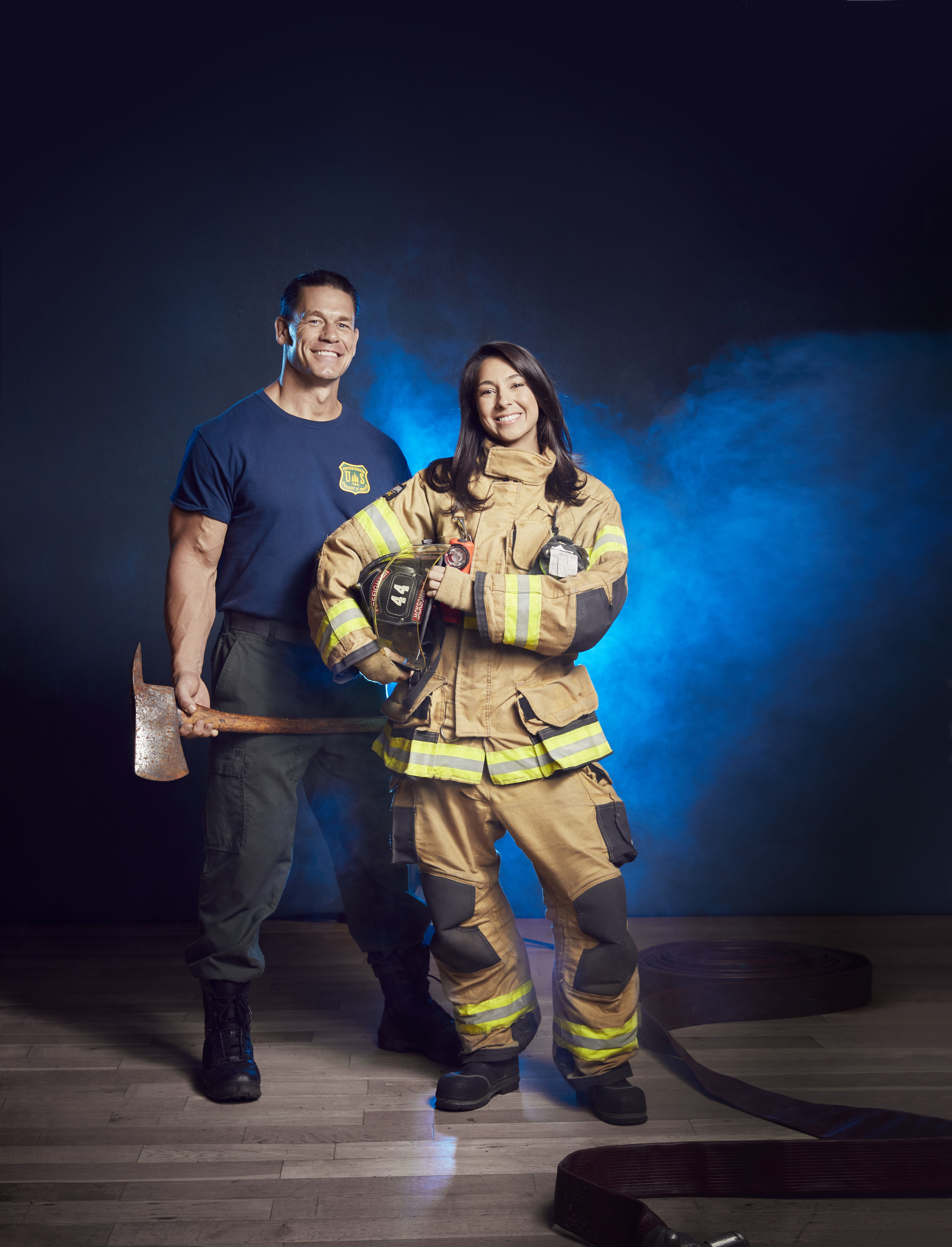 John Cena Honors First Responders for His New Movie, Playing With Fire