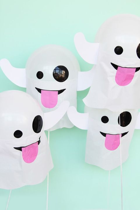 ghost emoji balloons halloween
