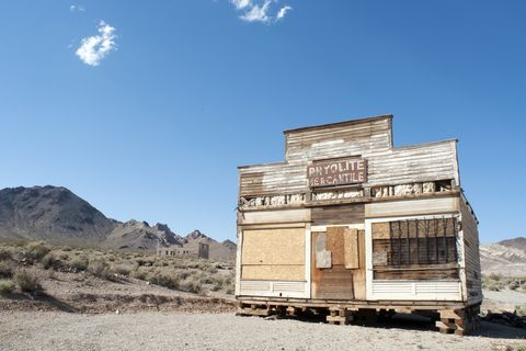 Rhyolite Ghost Town near Death Valley