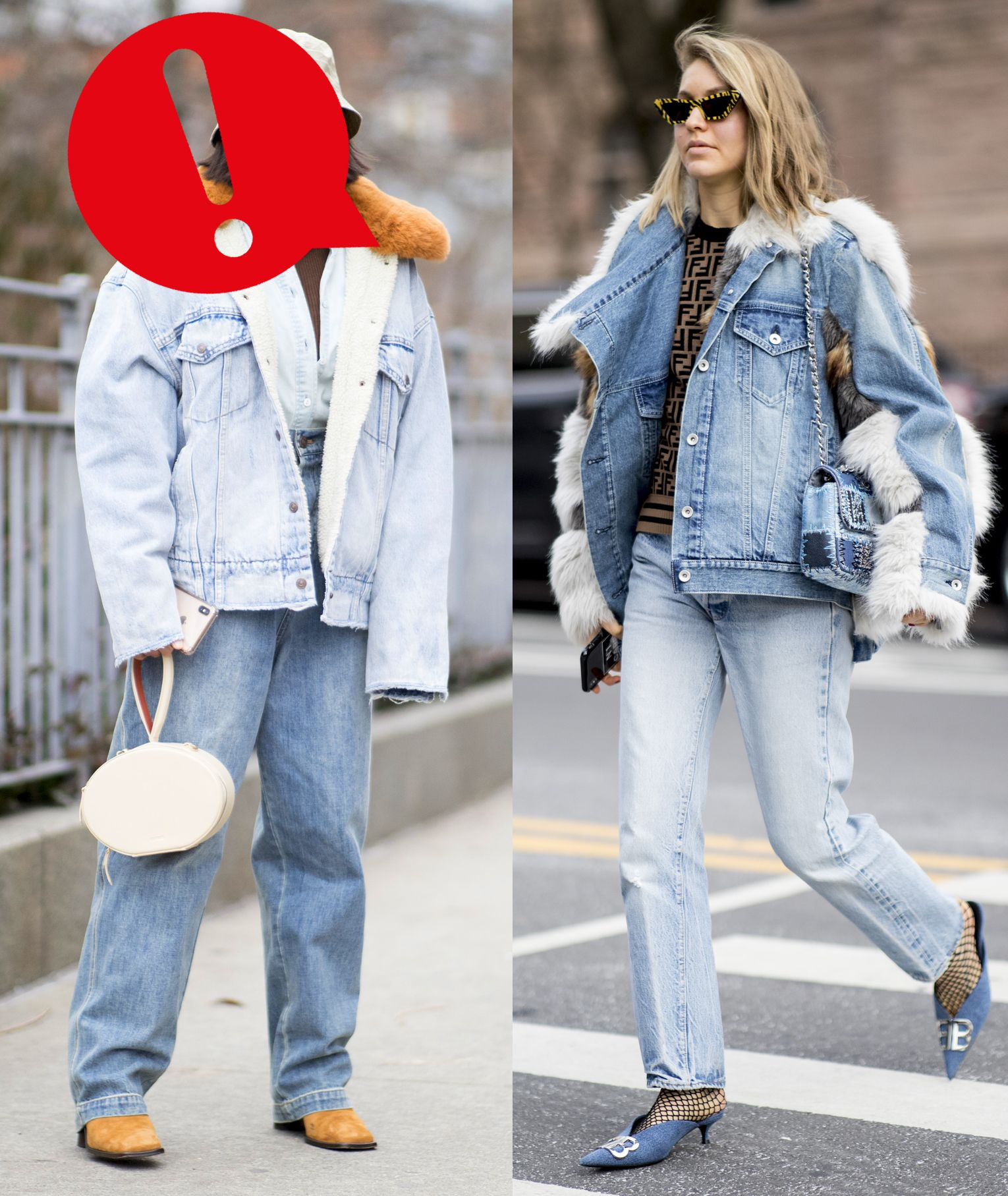 outfit giacca di jeans donna
