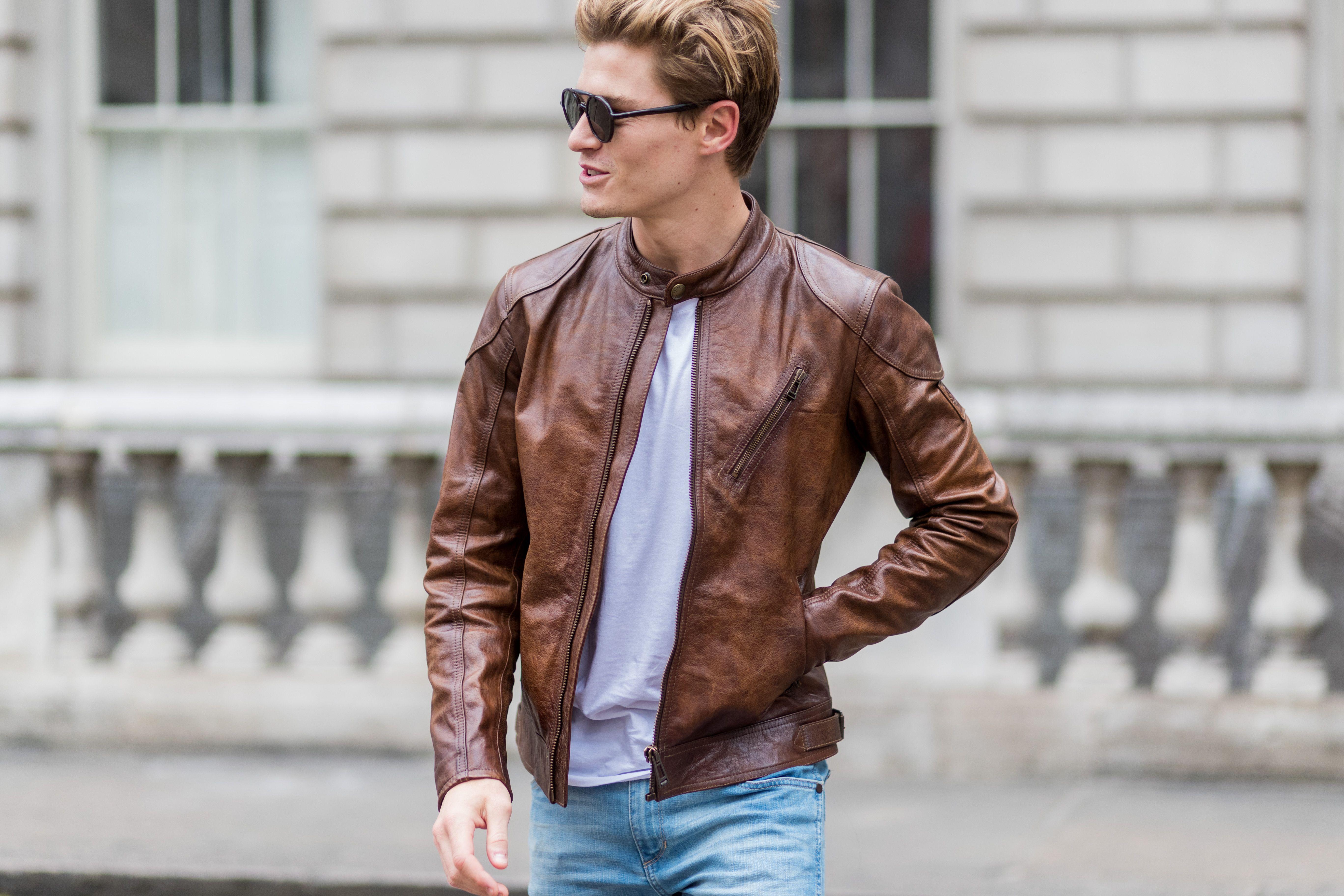 Giacca in pelle da uomo: 10 abbinamenti cool del 2019