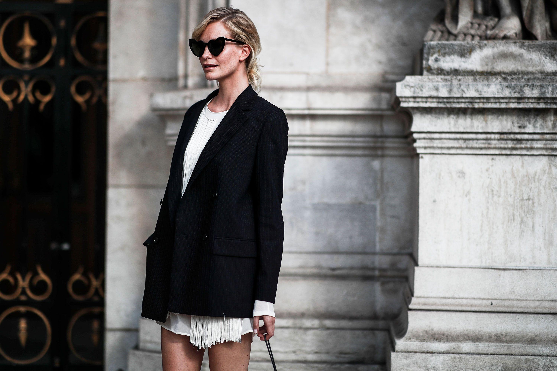 come portare una giacca lunga nera
