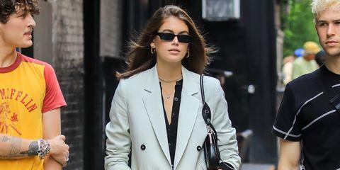negozio di sconto un'altra possibilità designer nuovo e usato Giacche primavera estate 2019, Kaia Gerber con il blazer ...