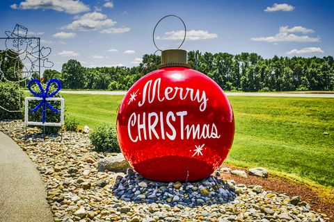 Giant Christmas tree bauble at Bronner's Christmas wonderland Frankenmuth MI