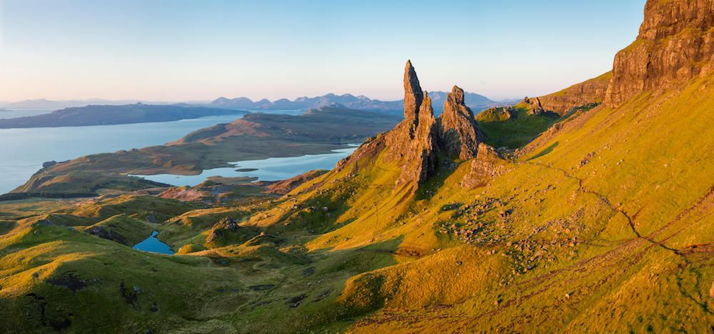 Dawn at the Old Man of Storr, Trotternish Peninsula, Isle of Skye, Scotland