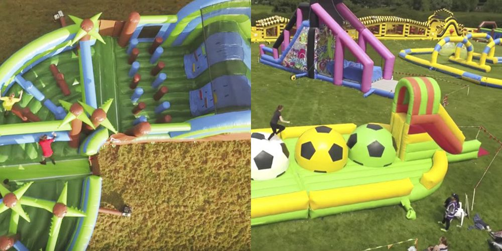 This incredible inflatable obstacle course is touring the UK