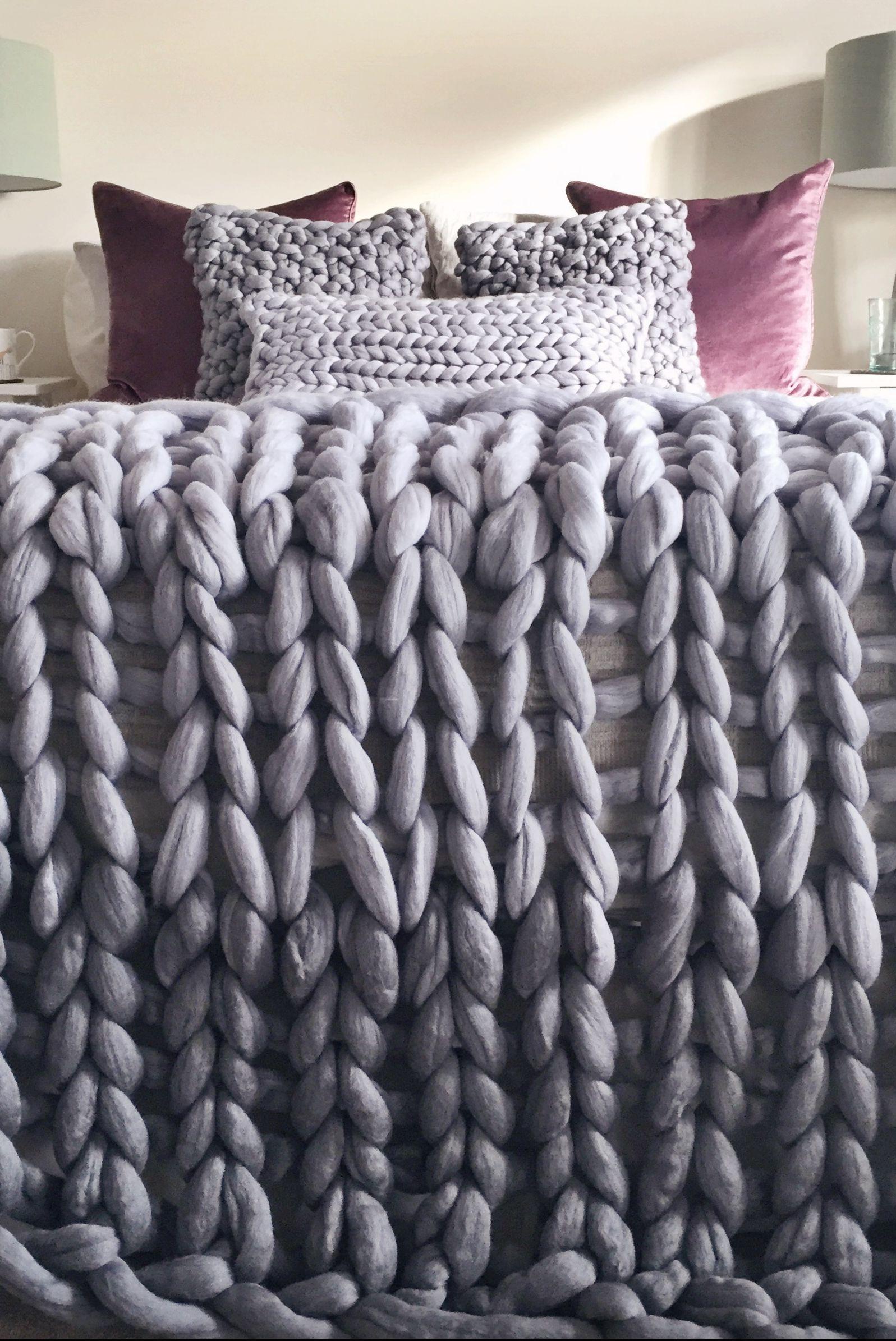 Giant Knit Ombre Blanket by Lauren Aston Designs,Giant Knit Ombre Blanket