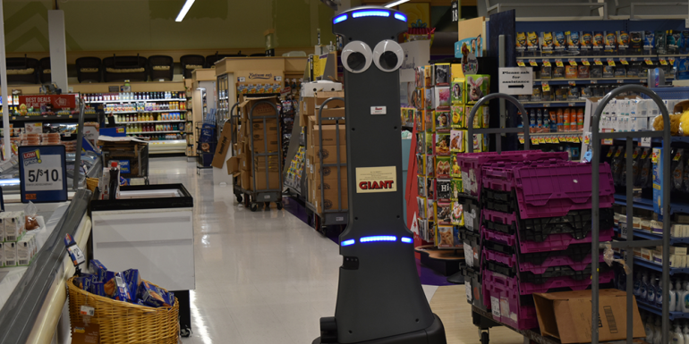 marty giant supermarket robot
