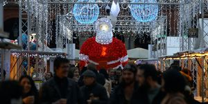 Christmas market and Christmas lights in Toulouse