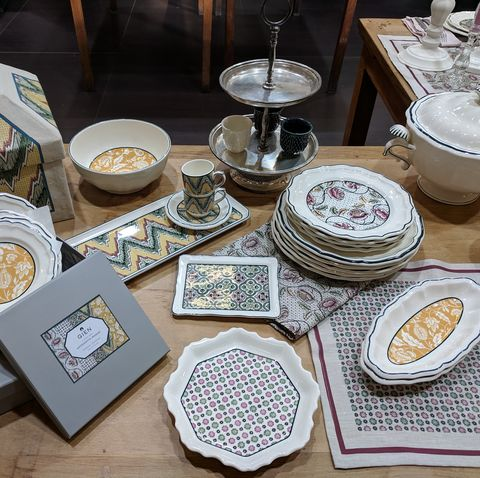 Porcelain, Dishware, Table, Dinnerware set, Tableware, Ceramic, Plate, Serveware, Food, Brunch,