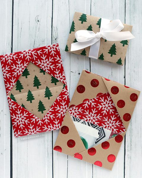 gift card presentation ideas wrapping paper