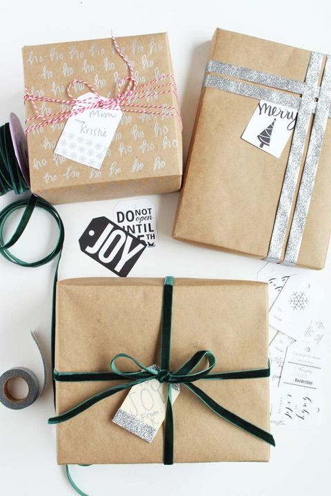 Gift Wrapping Ideas Glittery and Modern