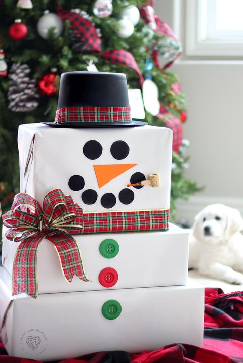 gift wrapping ideas snowman