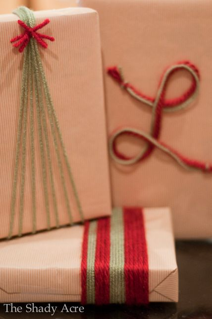 gift wrapping ideas yarn