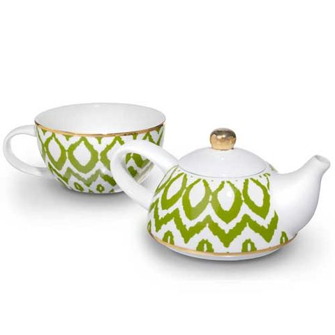 Ikat Tea Kettle and Cup Set