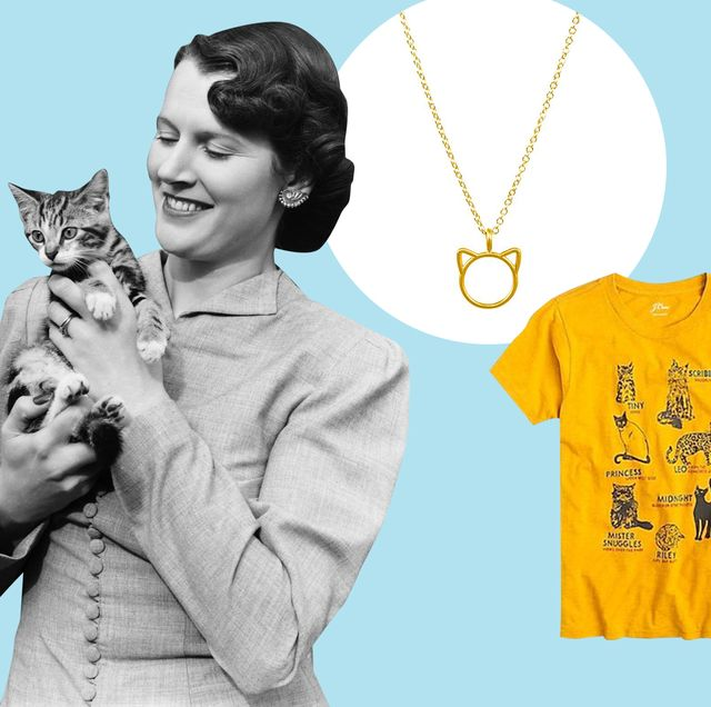 Product, Yellow, Sleeve, Vertebrate, Small to medium-sized cats, Facial expression, Collar, Felidae, Cat, T-shirt,