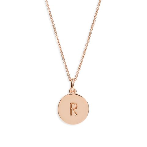 gifts for new parents kate spade initial pendant necklace