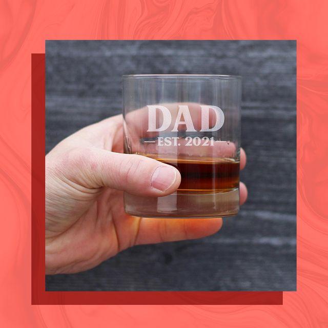 dad est 2021 rocks glass, tactical diaper bag backpack