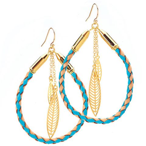 Rope and Feather Earrings