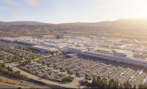 Tesla Gigafactory in Fremont, California