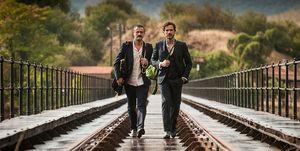 Isak Ferriz y Daniel Grao en la segunda temporada de 'Gigantes'
