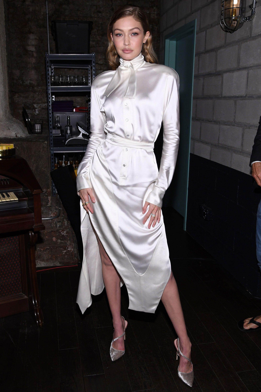 5b72871cb9d Gigi Hadid wears Vivienne Westwood dress – Gigi Hadid dresses top-to ...