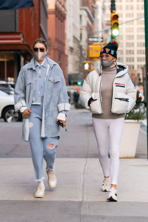 gigi hadid and yolanda hadid in new york city on january 13, 2021