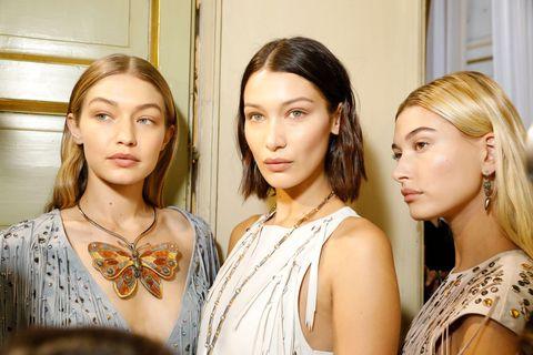Gigi Hadid, Bella Hadid, and Hailey Baldwin