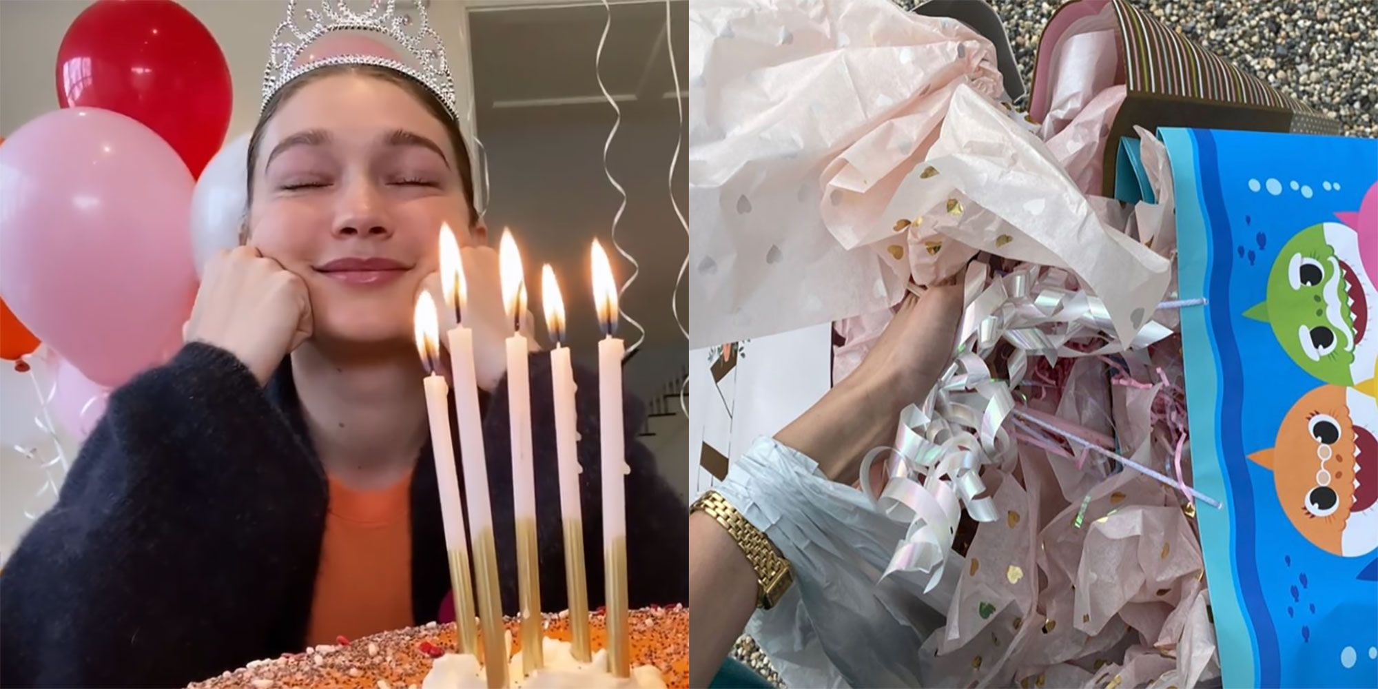 Fine How Gigi Hadid Celebrated Her 25Th Birthday In Quarantine Funny Birthday Cards Online Inifodamsfinfo