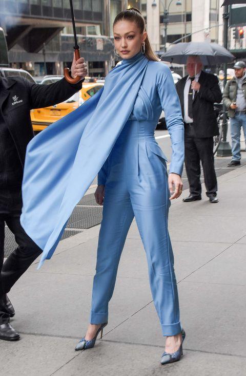 0a61b244e401 Gigi Hadid proves she s a street style superhero in caped Emilia ...