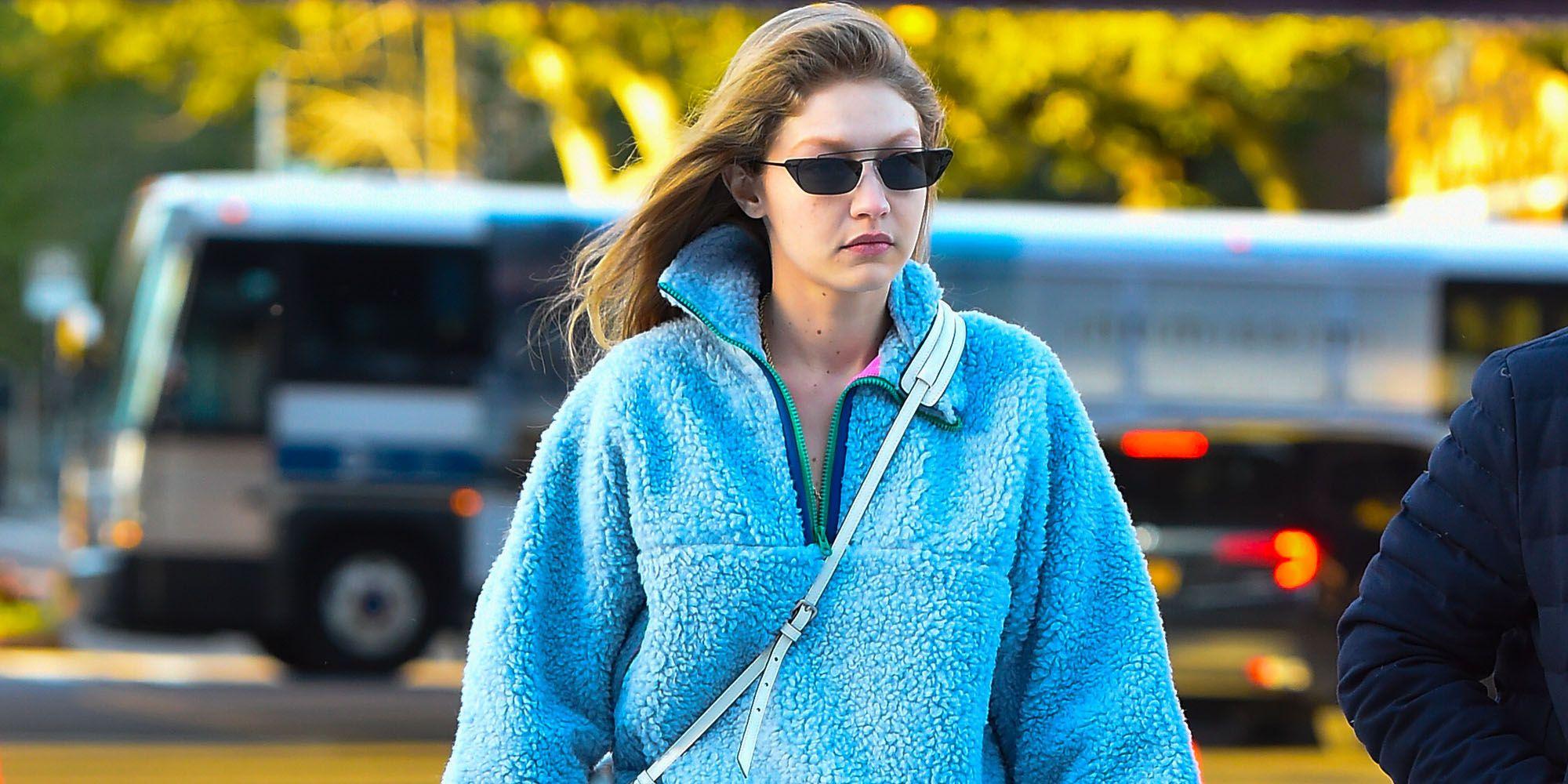 Gigi hadid fleece vest, fleecejack, but is it fashion