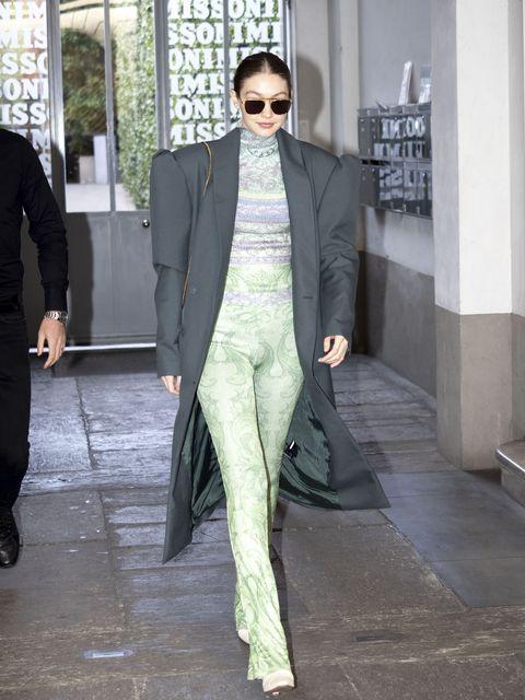 celebrity sightings february 21st   milan fashion week fallwinter 2020 2021