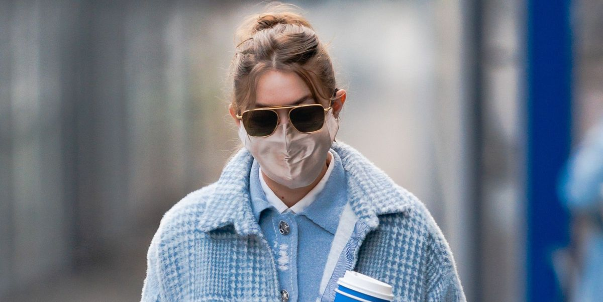 New Mom Gigi Hadid's All Baby Blue Outfit Is Very Good Street Style