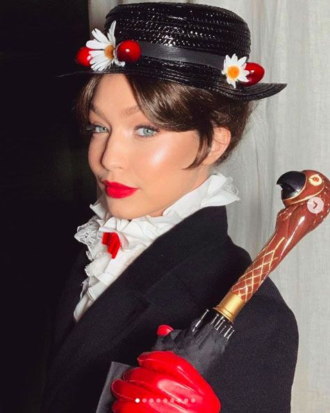 Gigi Hadid dressed as Mary Poppins