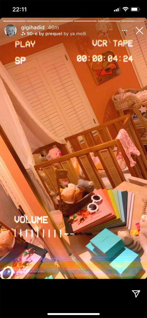 gigi hadid's nursery photos