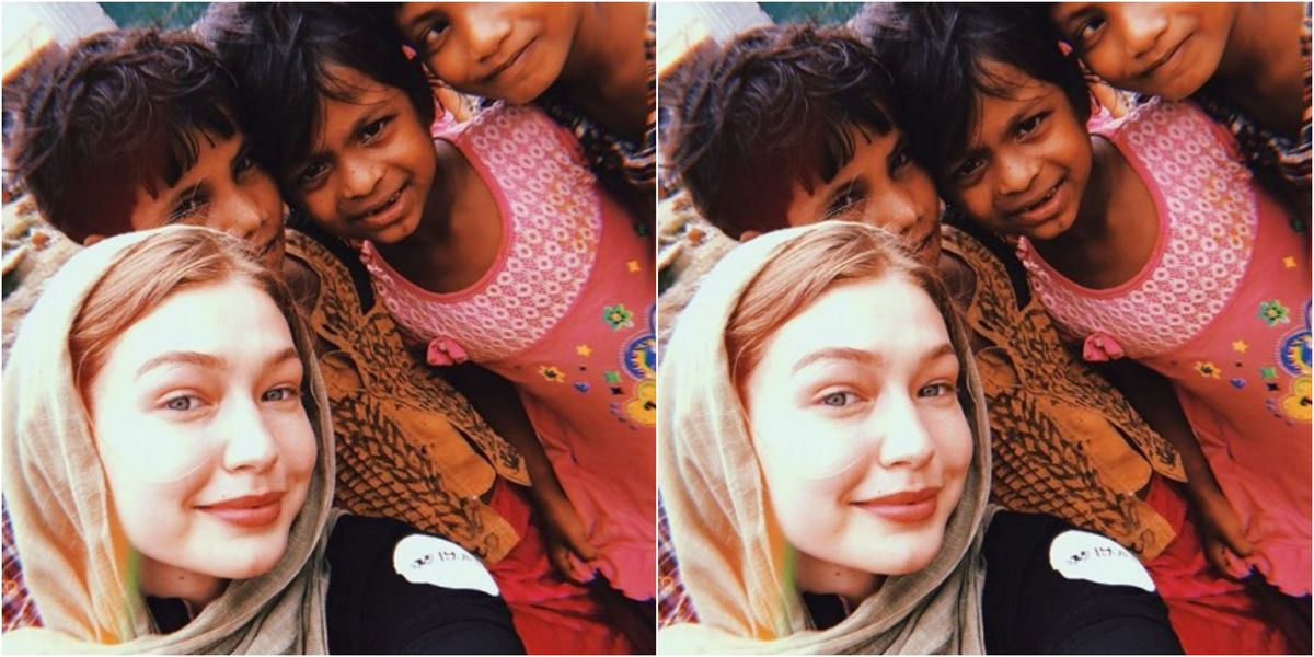 d55b3cd67ed Fans Applaud Gigi Hadid For Her Hands-On Activism For Rohingya Refugee  Children