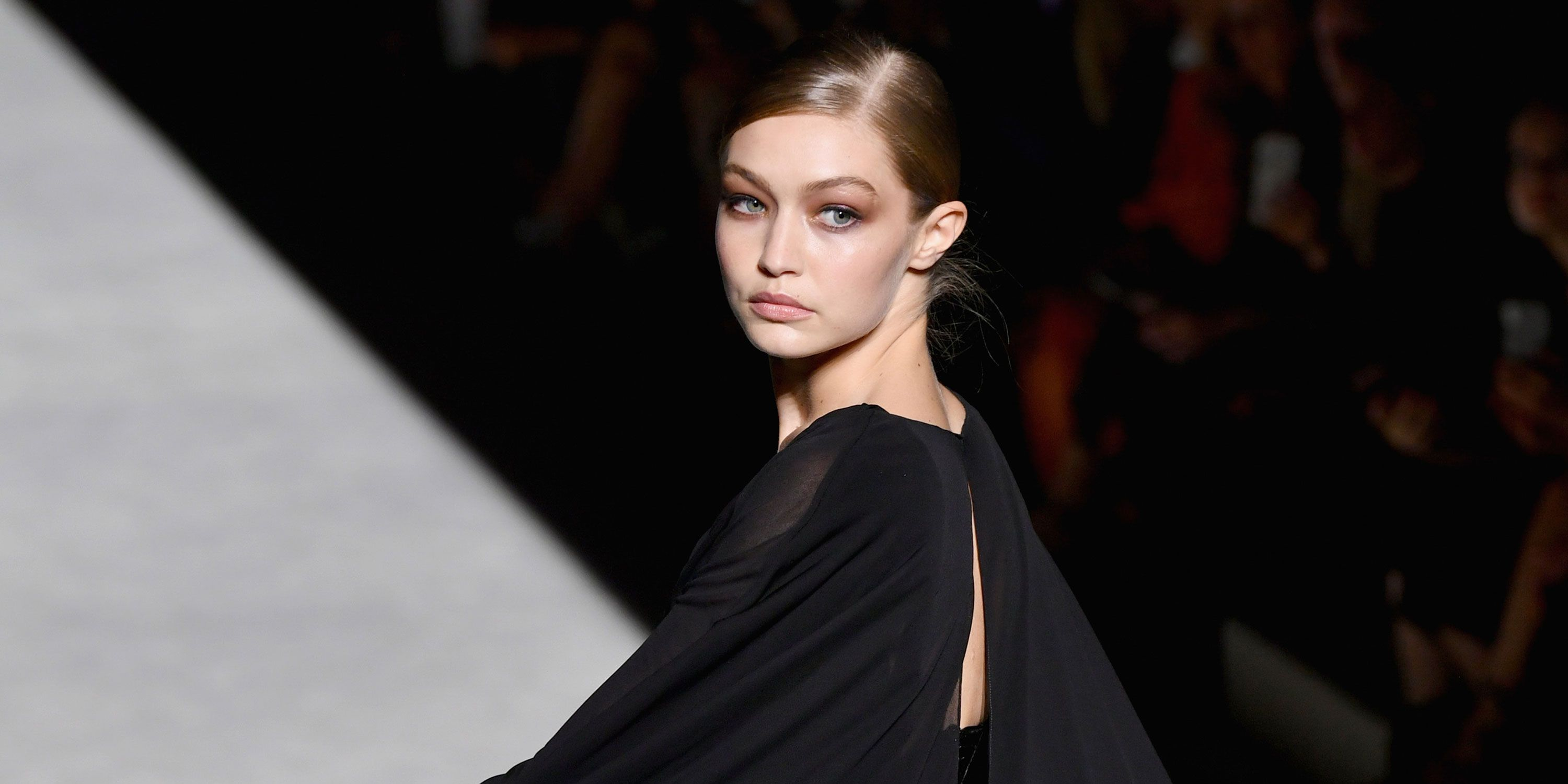 Gigi Hadid on the Tom Ford spring summer 2019 catwalk