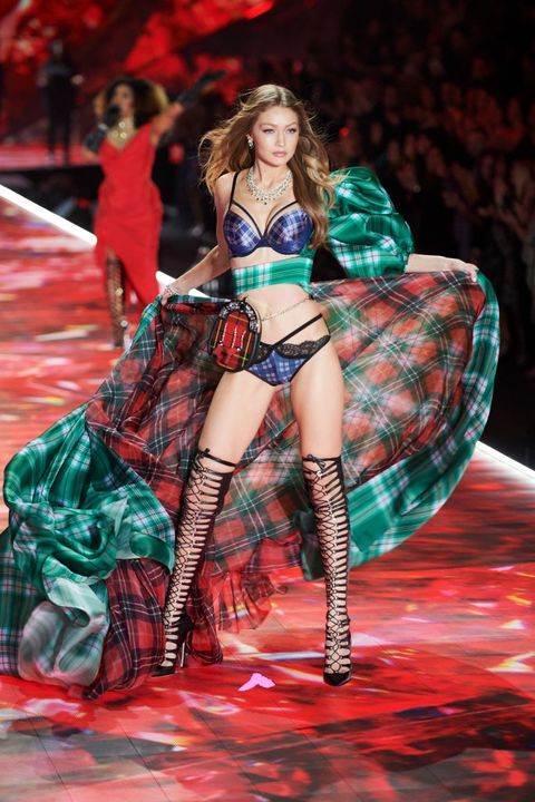 See Gigi Hadid at the Victoria's Secret Fashion Show 2018