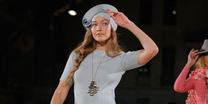 outlet store a57c2 c88c3 Gigi Hadid suffered a wardrobe malfunction on the Marc ...