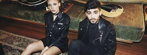 Fashion, Cool, Black hair, Sitting, Photography, Jacket, Leather jacket,
